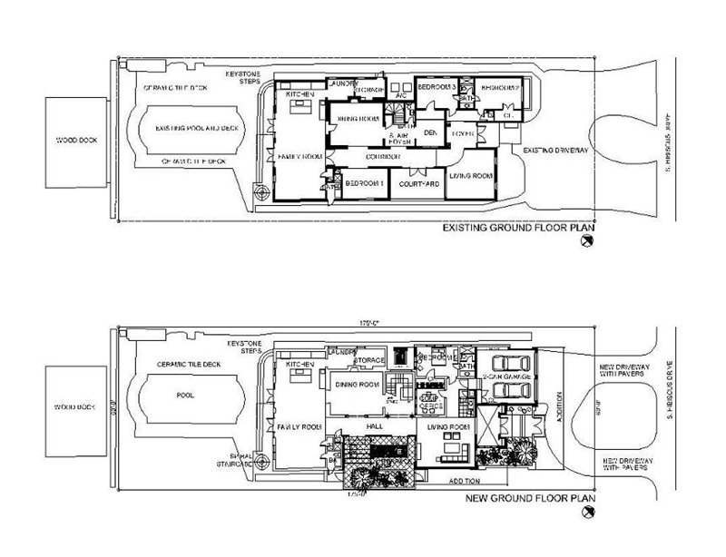 """Before"" plans of Hibiscus Island House, Miami Beach, by United Architects"