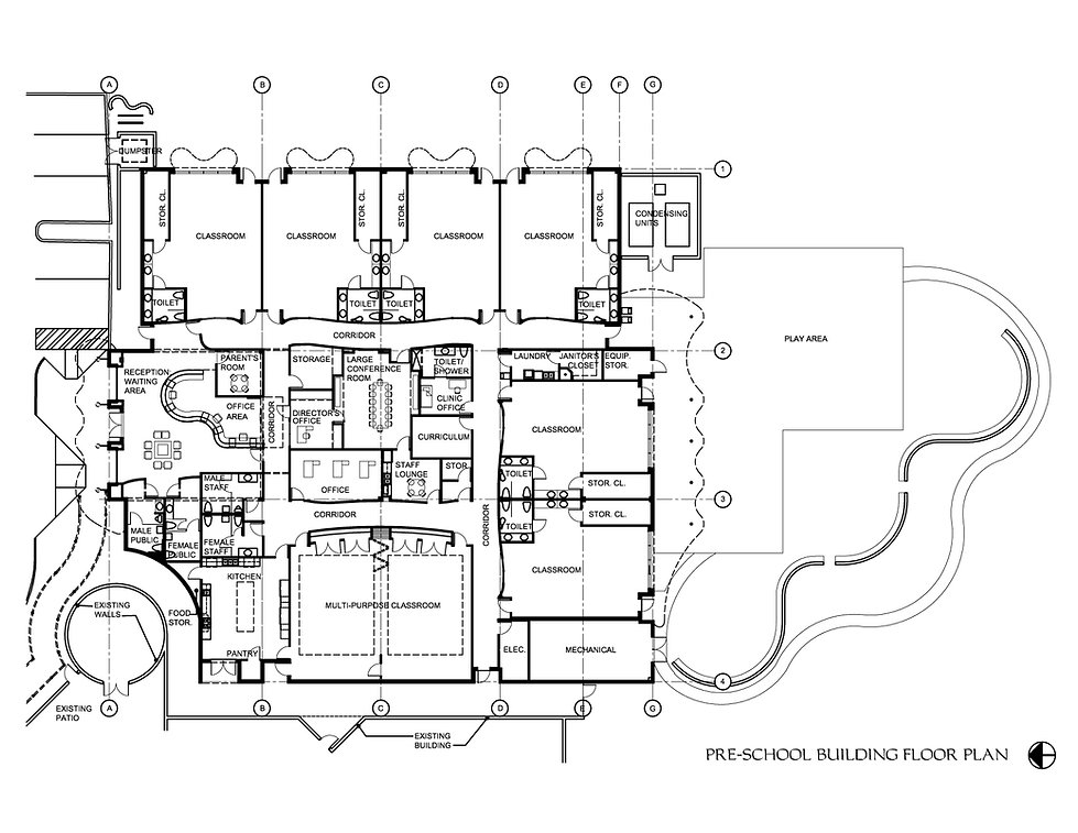 Floor plan of pre-school building by United Architects