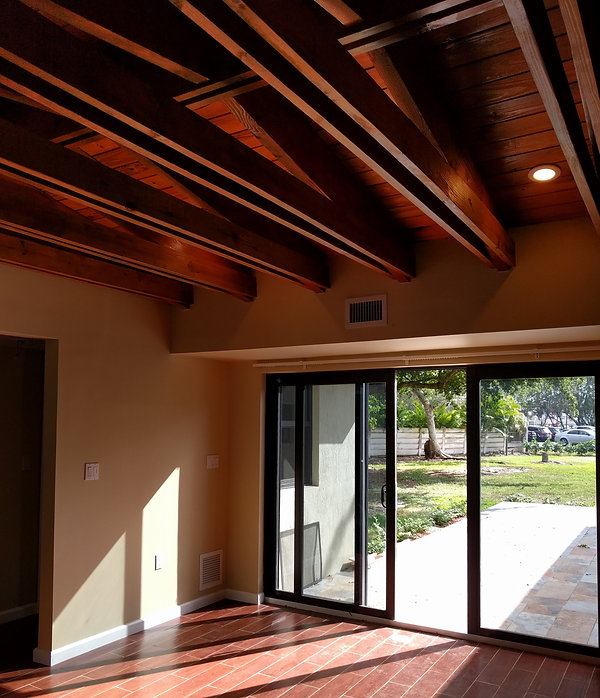 """""""After"""" photo showing the double roof rafter details"""