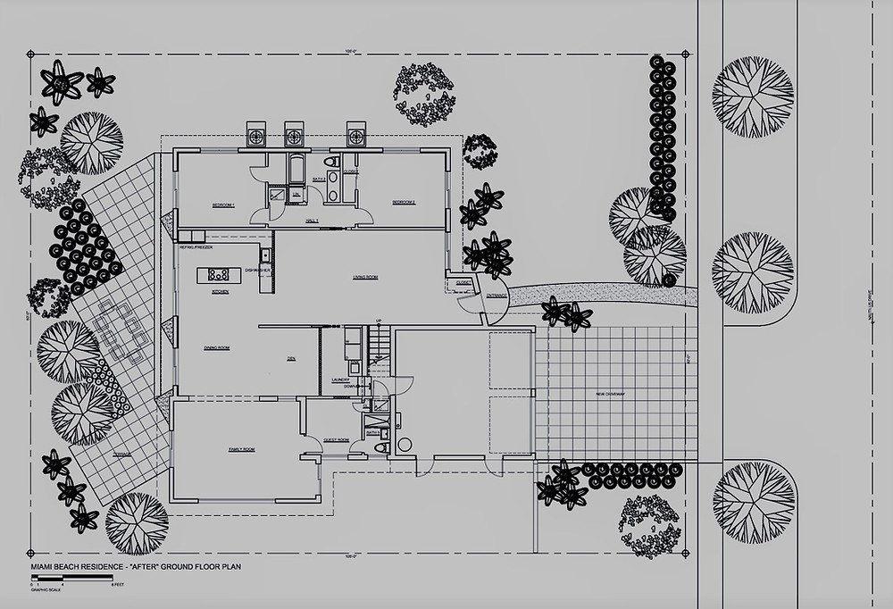 Floor Plan of a remodeled house by United Architects