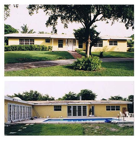 """The """"Before"""" photos of the house prior to additions and remodeling"""