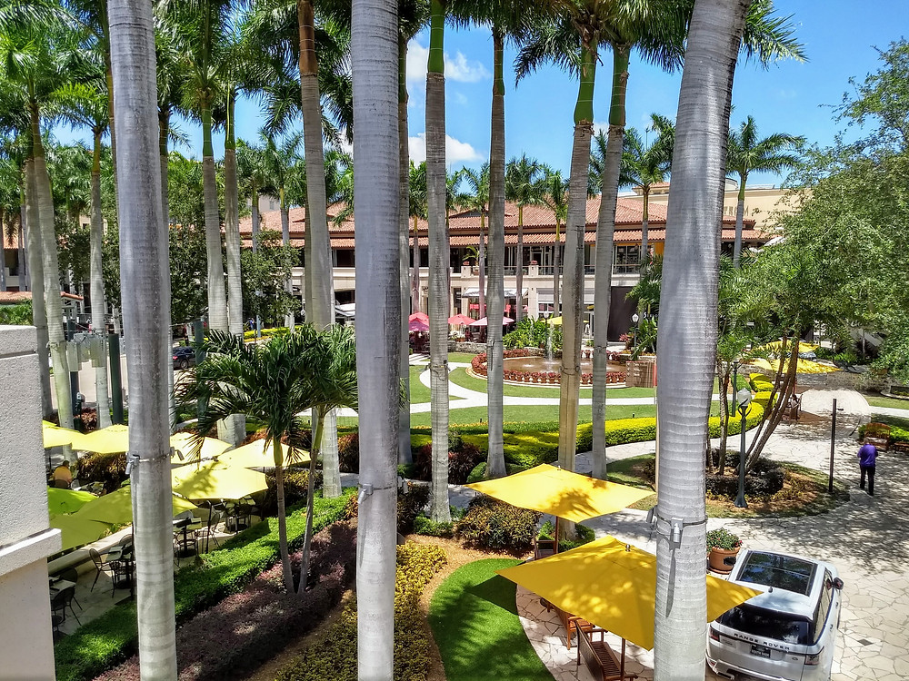 This is a photo of the beautiful, upscale Merrick Park in Coral Gables, Florida