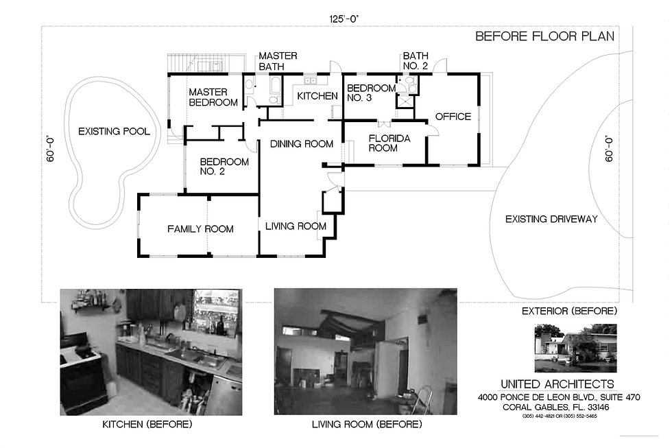 """""""Before"""" floor plan and interior photos"""