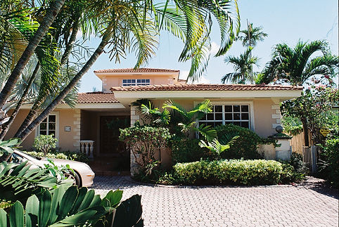 Before photo of house on Hibiscus Island, Miami Beach