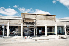 Shopping center under re-construction