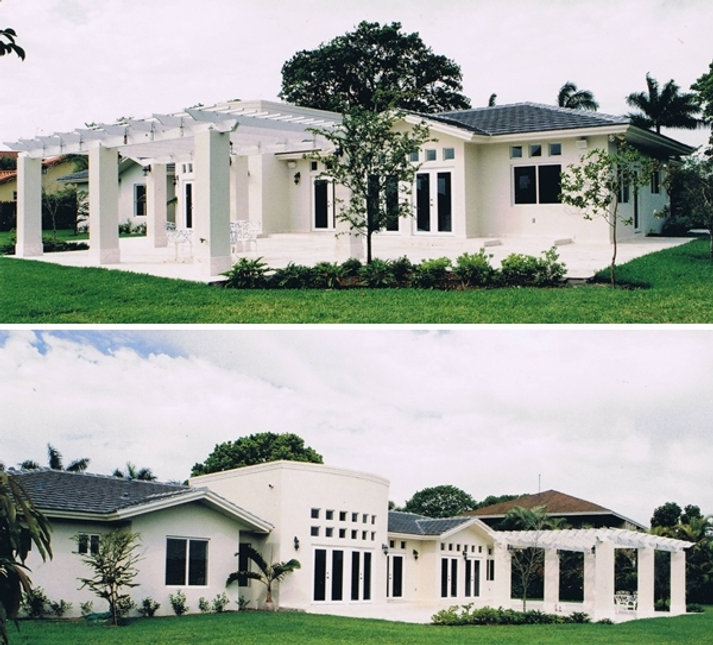 Rear views of new residence