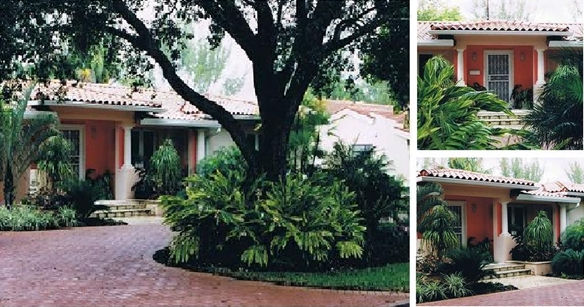 A composite of photos of one of the houses United Architects remodeled in Coral Gables