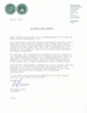 Letter of reference