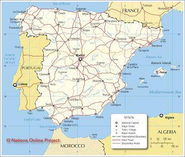 This is a map of Spain/ Mapa de España