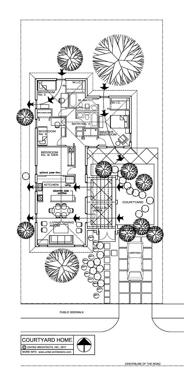 Floor plan showing cross-ventilation