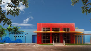 It is another view, in addition to the one at the top, of the front entrance facade of pre-school