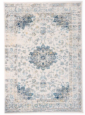 Light blue and yellw traditional rug rental