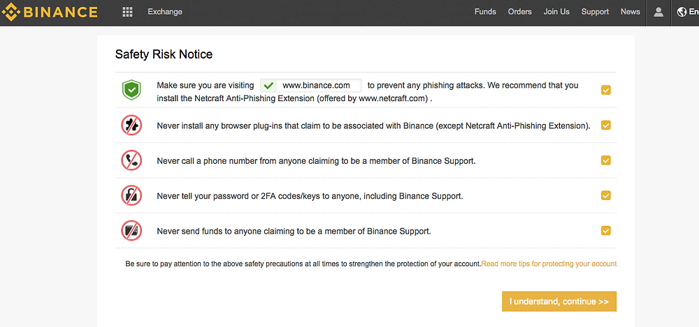 5 things to know before using your binance account
