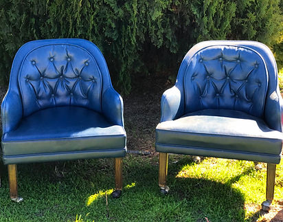 """Sailor"" Chair, blue captain's chairs"