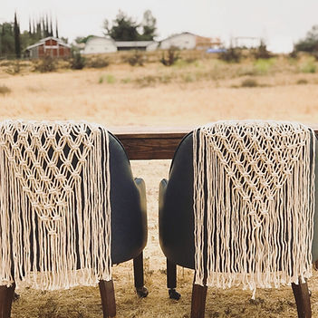 Macrame chair cover