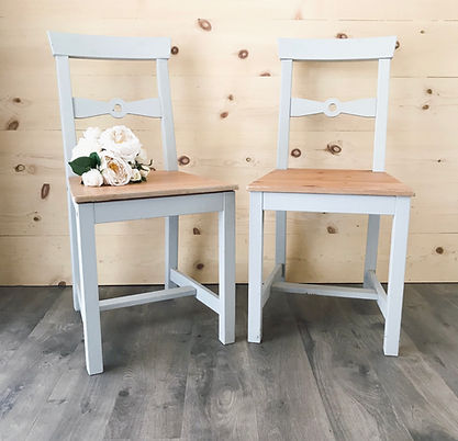 """Kelly"" Chairs, Grey Farmhous Chairs"