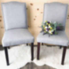 """Emma"" Chair, grey fabric chairs"