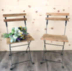 """Charlotte"" Chair, Wood Bistro Chairs"