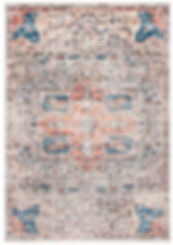 Peach and blue traditional rug rental