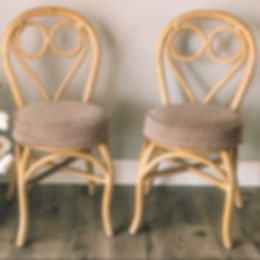 Chloe Chairs, Vintage Bamboo Chairs