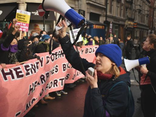 ANTI FASCIST PROTEST, LONDON: IN PHOTOS