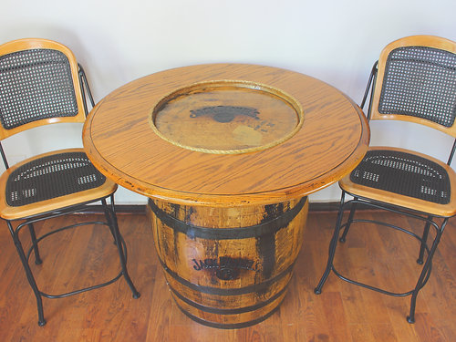 Pub Table, Whiskey Barrel Table, Barrel Table And Chairs, Jack Daniels  Barrel Table