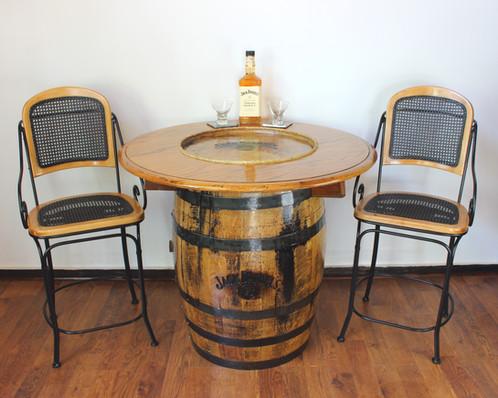 Jack Daniels Pub Table U0026 Stools | Handmade Wood Furniture | Atlanta | Refur  Bish