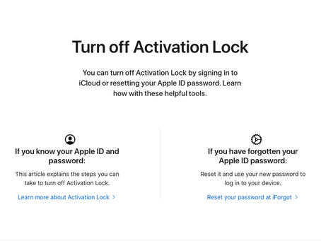 Apple Launches Self-Serve Portal for Initiating Activation Lock Removal Requests