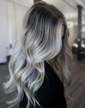 Rooted blond
