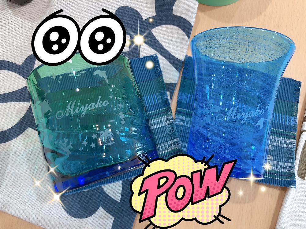 宮古島 琉球ガラス名入れ体験 沖縄