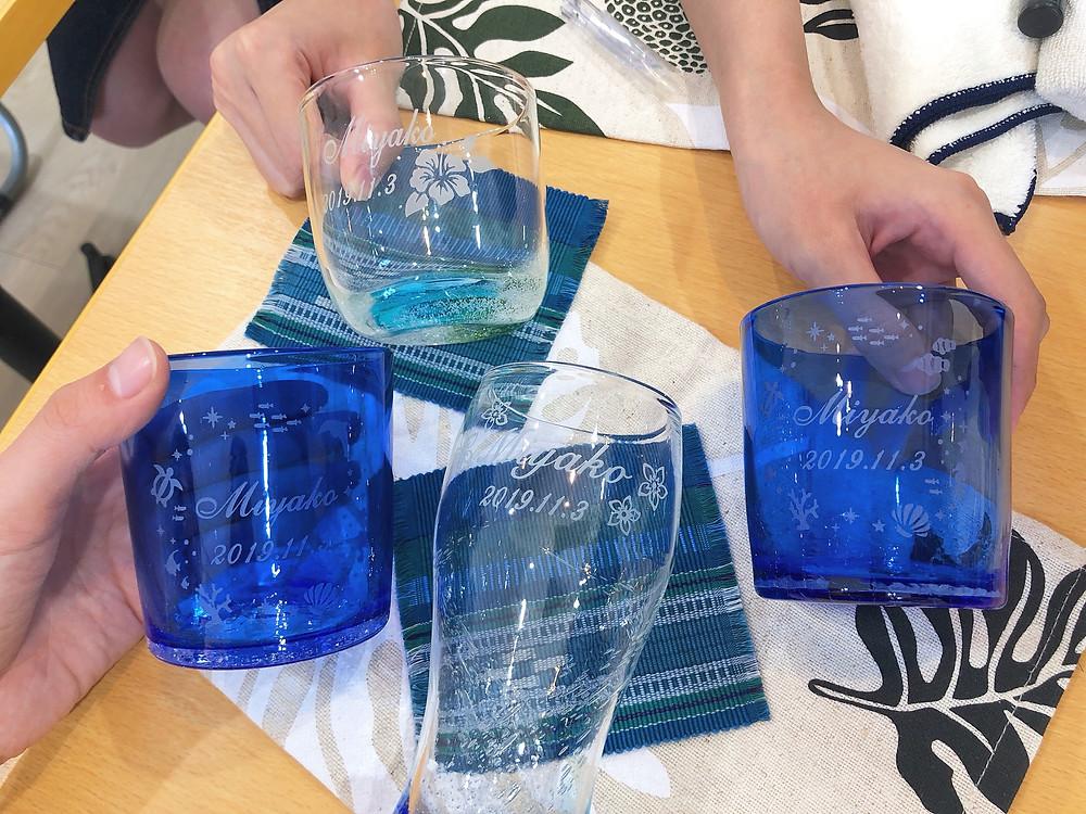 琉球ガラス名入れ体験 宮古島