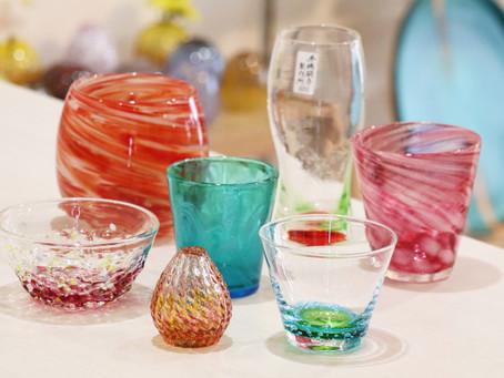 琉球ガラス クリスマスカラー