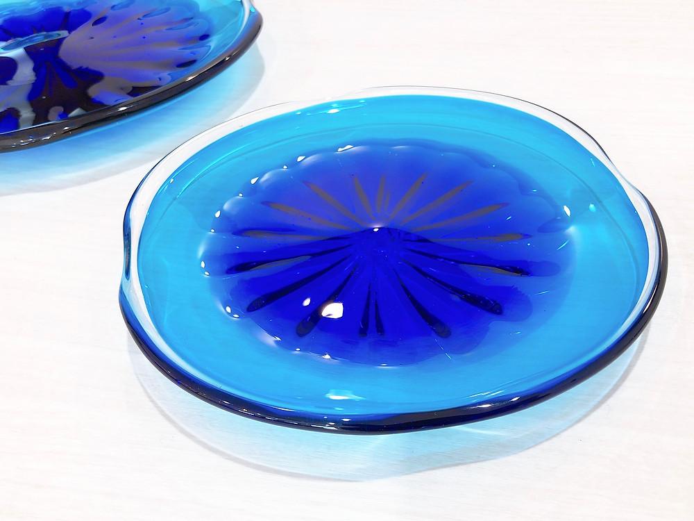 琉球ガラス 珊瑚の海 青皿 沖縄 宮古島 人気 値段 通販