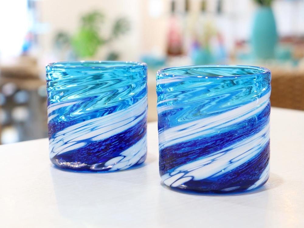 琉球ガラス 源河源吉 荒波コバルト 琉球ガラス やちむん 可愛い 人気 おしゃれ 通販 宮古島 おすすめ