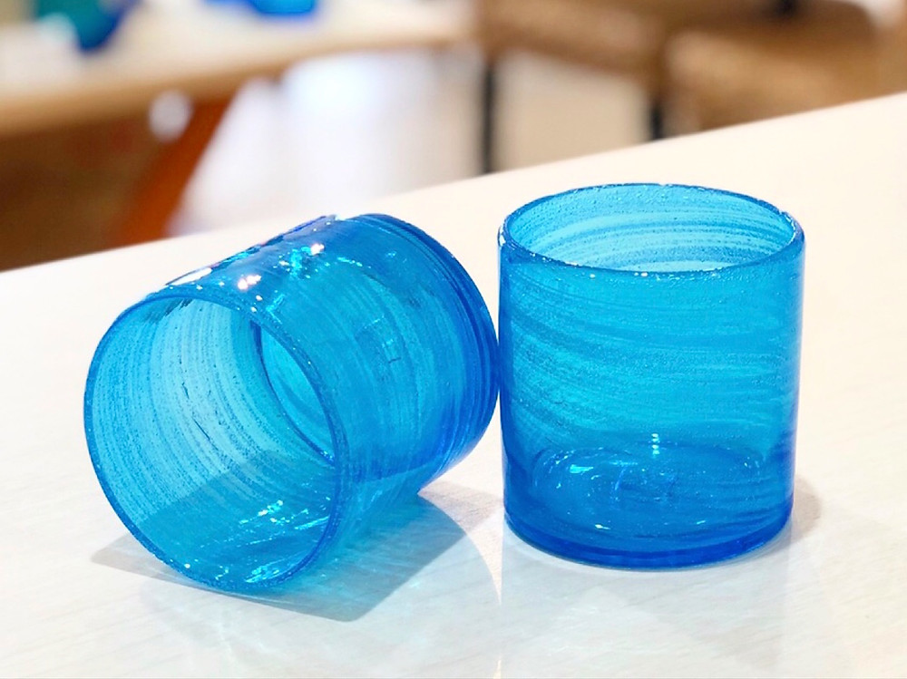 琉球ガラス 海の泡ロックグラス
