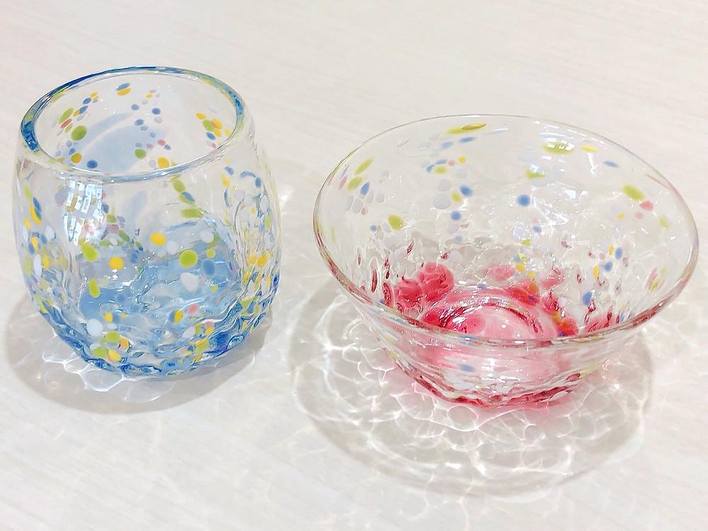 琉球ガラス 花波小鉢