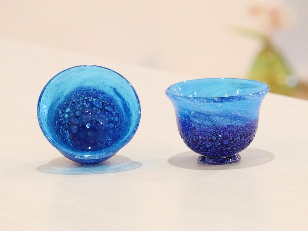 琉球ガラス 源河源吉 コバルトぐい呑 人気 かわいい 通販 おすすめ