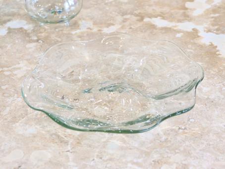 琉球ガラス glass32 うず皿入荷
