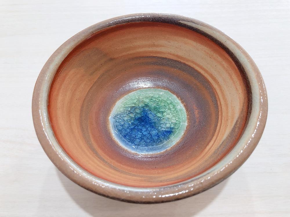 うるま陶器 三つ足マーブル