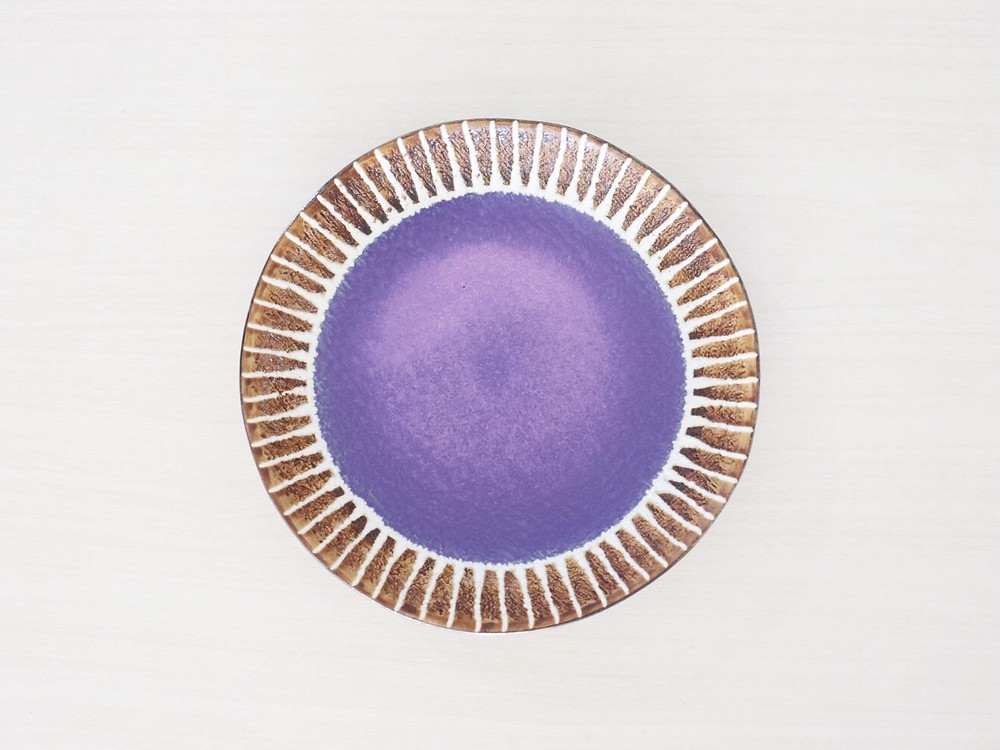 やちむん 眞正陶房 マカロン 7寸皿 琉球ガラス やちむん 人気 オススメ 可愛い 通販 宮古島