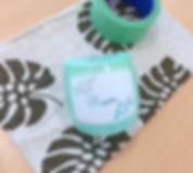 宮古島旅行にオススメ 琉球ガラス名入れ体験 マスキング.jpeg