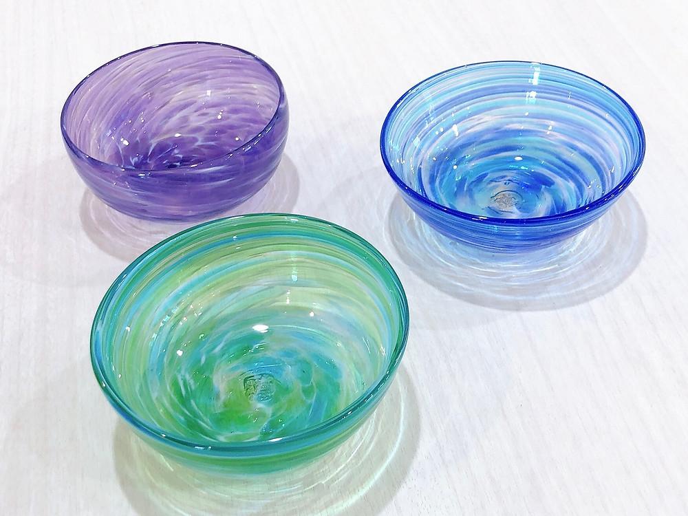 琉球ガラス 源河源吉 美ら海小鉢 宮古島 琉球ガラス やちむん 人気 おすすめ かわいい