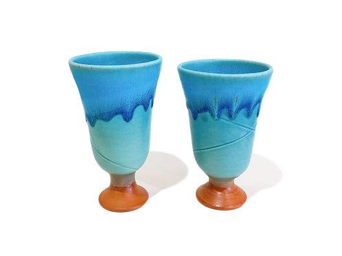 るま陶器 ゴブレット 2個セット