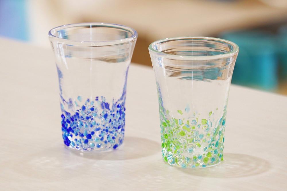 琉球ガラス てぃだ工房 つぶつぶビアグラス 宮古島 人気 かわいい