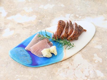 うるま陶器 サーフプレート ビーチ