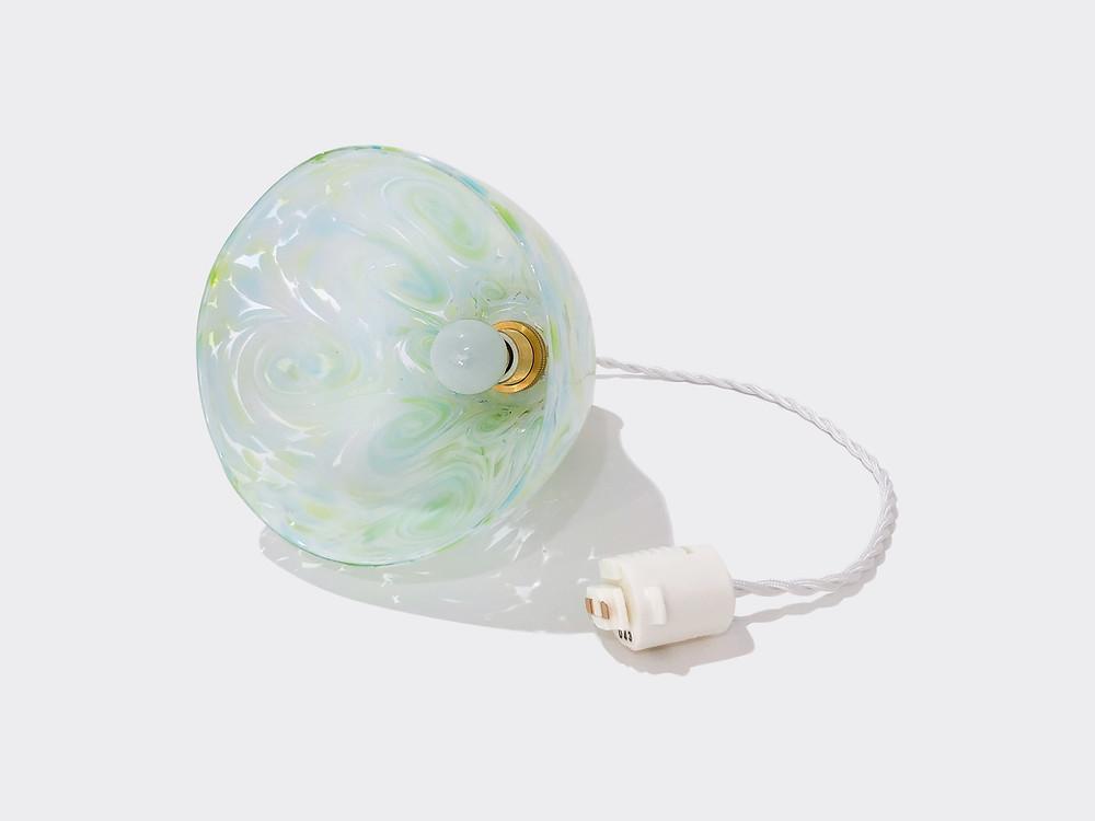 琉球ガラスペンダントライト (ランプシェード) グリーン