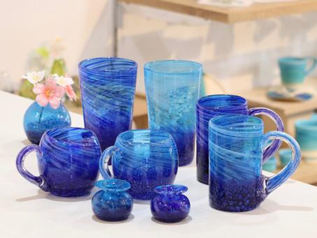 琉球ガラス コバルトシリーズ