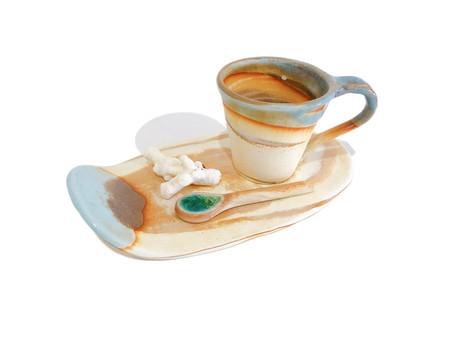 うるま陶器 カップ&ソーサー / マーブル 入荷