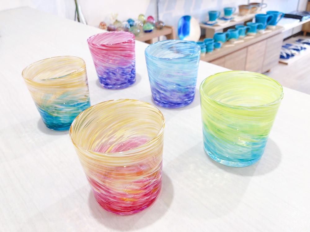 琉球ガラス工房 雫  ロックグラス 人気 かわいい 通販 おすすめ