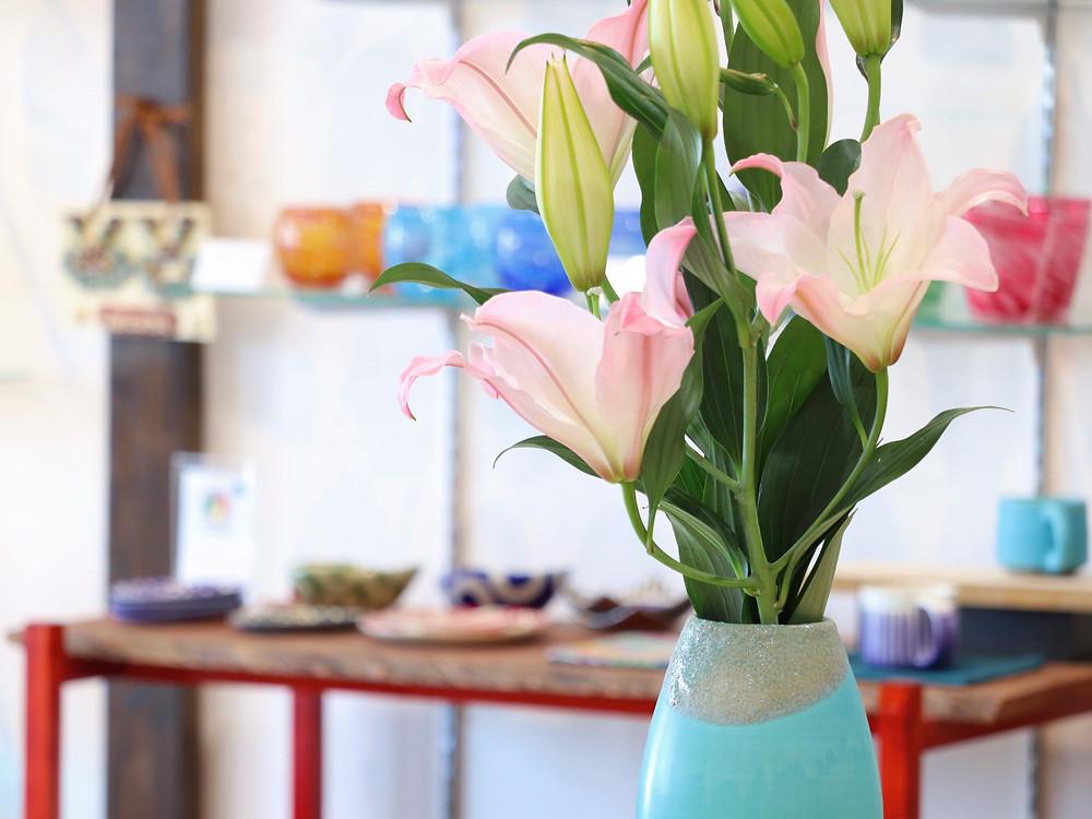 やちむん うるま陶器 花器 琉球ガラス やちむん 人気 かわいい 通販 宮古島 沖縄